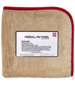 FIREBALL PIN TOWEL RED 72X95